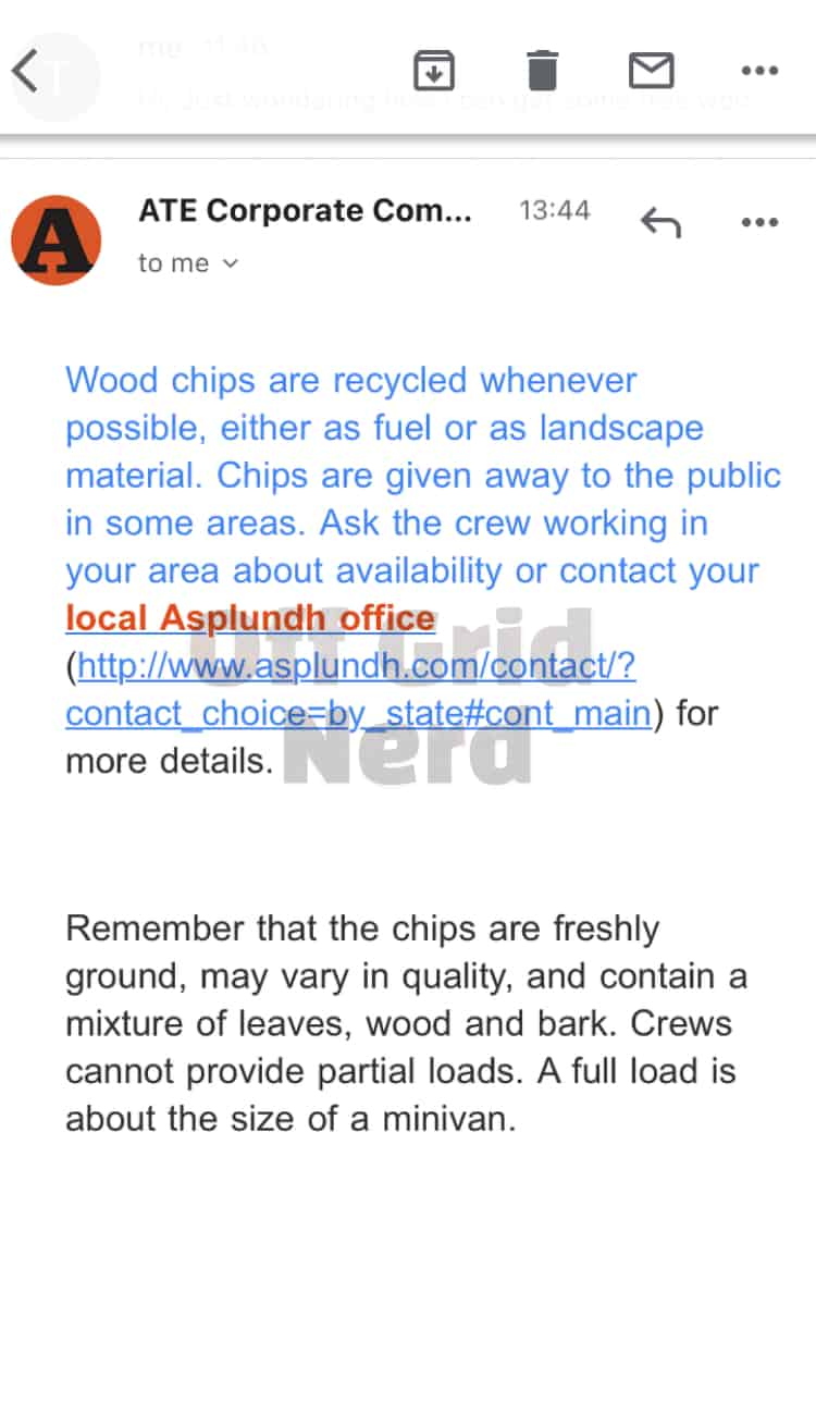 asplundh free wood chips email new